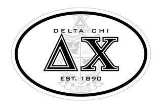 Delta Chi Oval Crest - Shield Bumper Sticker - CLOSEOUT