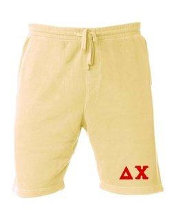 Delta Chi Pigment-Dyed Fleece Shorts