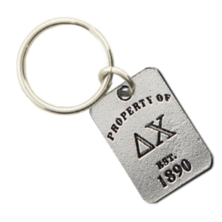 Delta Chi Property of Tag Keychain