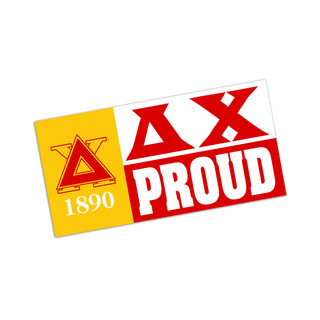 Delta Chi Proud Bumper Sticker - CLOSEOUT
