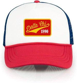 Delta Chi Red, White & Blue Trucker Hat