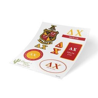 Delta Chi Traditional Sticker Sheet