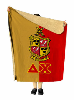 Delta Chi Two Tone Two Tone Sherpa Lap Blanket