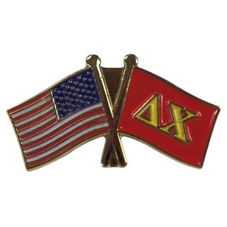 Delta Chi USA Flag Lapel Pin