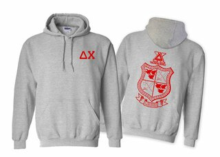 Delta Chi World Famous Crest - Shield Hooded Sweatshirt- $35!