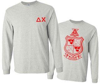 Delta Chi World Famous Crest - Shield Long Sleeve T-Shirt- $19.95!