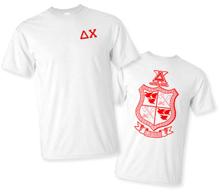 Delta Chi World Famous Greek Crest T-Shirts - MADE FAST!