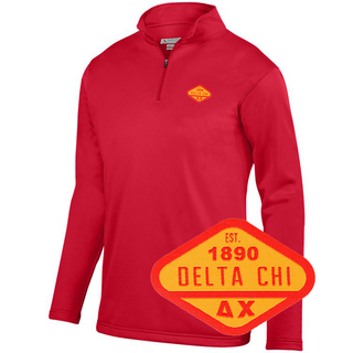 DISCOUNT-Delta Chi Woven Emblem Wicking Fleece Pullover