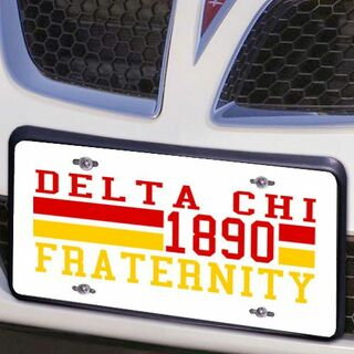 Delta Chi Year License Plate Cover