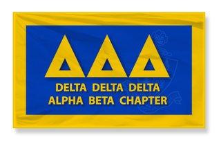 Delta Delta Delta 3 X 5 Flag