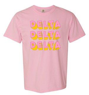 Delta Delta Delta 3Delightful Tee - Comfort Colors