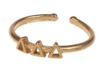 Delta Delta Delta Adjustable Letter Ring