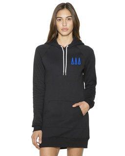 Delta Delta Delta American Apparel Flex Fleece Hooded Dress