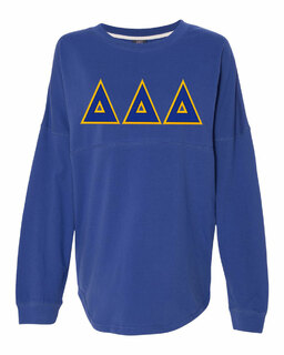 DISCOUNT-Delta Delta Delta Athena French Terry Dolman Sleeve Sweatshirt