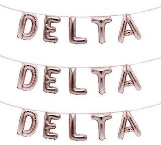 Delta Delta Delta Banner Balloon Set