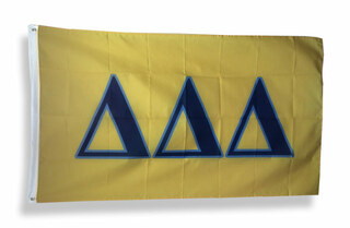 Delta Delta Delta Big Greek Letter Flag