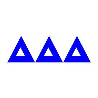 Delta Delta Delta Big Greek Letter Window Sticker Decal