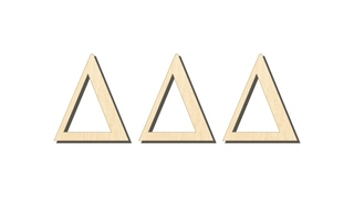 Delta Delta Delta Big Wooden Greek Letters