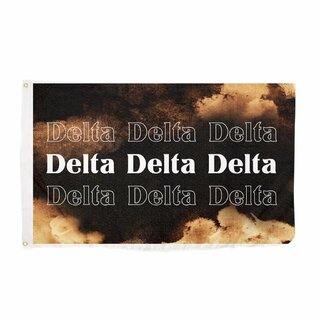 Delta Delta Delta Bleach Wash Flag