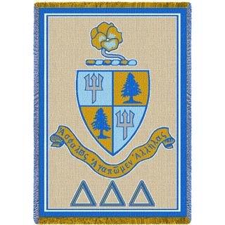 Delta Delta Delta Blue Afghan Blanket