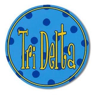 "Delta Delta Delta Bumper Stickers 4"" Round"