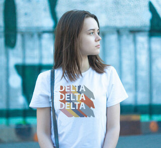 Delta Delta Delta Califonic Tee - Comfort Colors