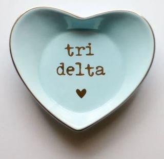 Delta Delta Delta Ceramic Ring Dish