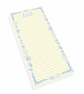 Delta Delta Delta Chevron Long Notepad