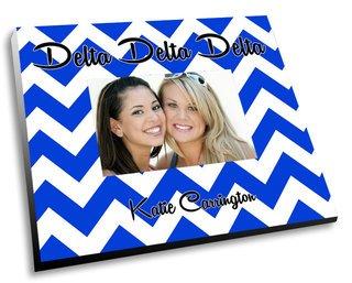 Delta Delta Delta Chevron Picture Frame