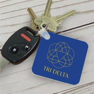Delta Delta Delta Mascot Key Chain