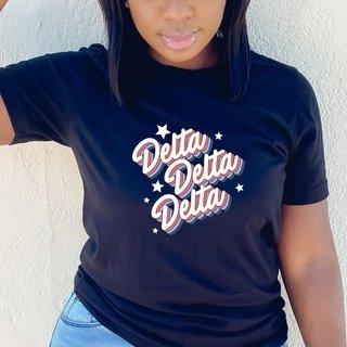 Delta Delta Delta Comfort Colors Flashback Tee