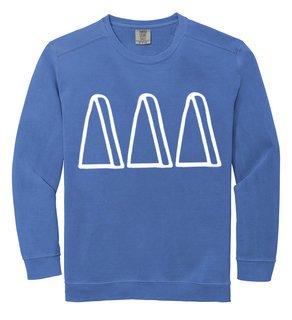 Delta Delta Delta Comfort Colors Greek Crewneck Sweatshirt