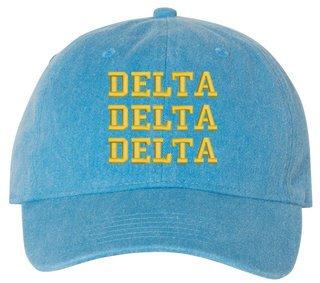 Delta Delta Delta Comfort Colors Pigment Dyed Baseball Cap