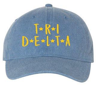 Delta Delta Delta Comfort Colors Starry Night Pigment Dyed Baseball Cap