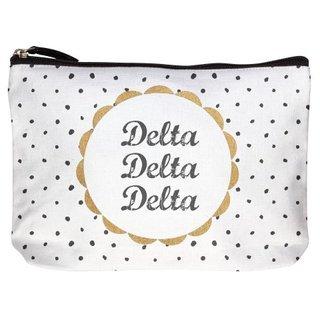 Delta Delta Delta Cotton Canvas Makeup Bags