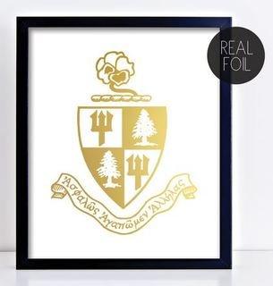 Delta Delta Delta Crest - Shield Foil Print
