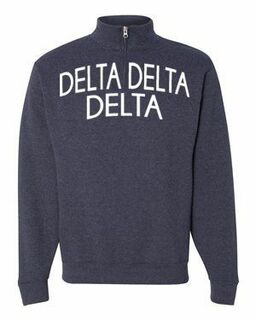 Delta Delta Delta Over Zipper Quarter Zipper Sweatshirt