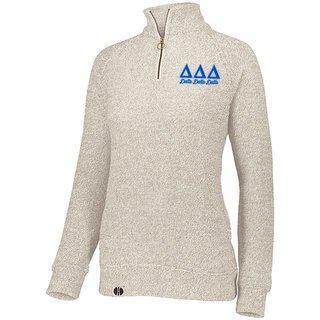 Delta Delta Delta Cuddly 1/4 Zip Pullover