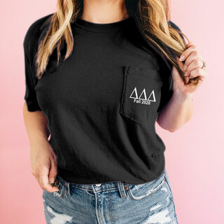 Delta Delta Delta Custom Comfort Colors Pocket Tee