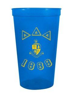 Delta Delta Delta Custom Greek Crest Est Stadium Cup