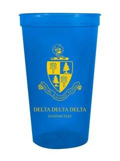 Delta Delta Delta Custom Greek Crest Letter Stadium Cup