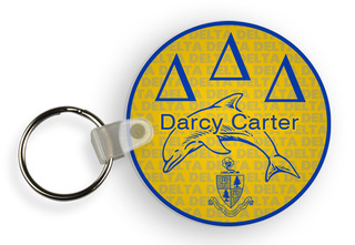 Delta Delta Delta Custom Mascot Keychains