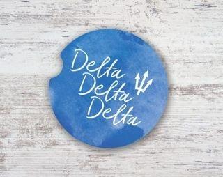 Delta Delta Delta Sandstone Car Cup Holder Coaster