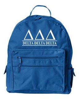 Delta Delta Delta Custom Text Backpack