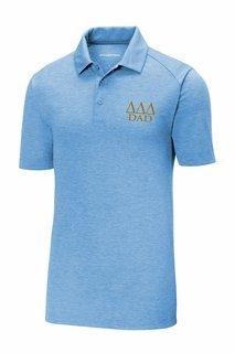 Delta Delta Delta Dad Posicharge Tri Blend Wicking Polo