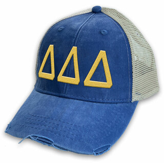 Delta Delta Delta Distressed Trucker Hat