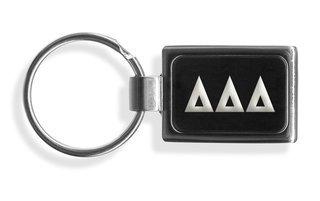 Delta Delta Delta Engraved Chrome Keychains