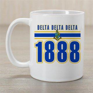 Delta Delta Delta Established Year Coffee Mug - Personalized!