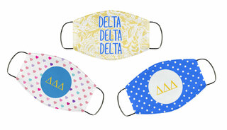 Delta Delta Delta Face Mask Trio Set