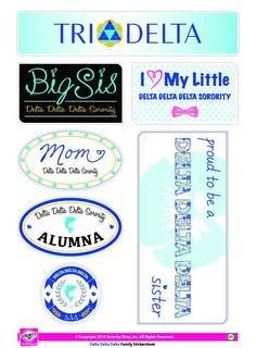 Delta Delta Delta Family Sticker Sheet